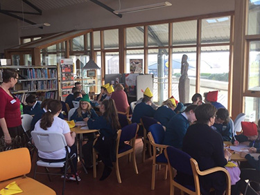 A Fighting Words North West group meeting at Bundoran Community Library